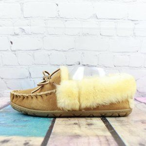 LL BEAN Moccasins Slippers Shearling Lined 9 M